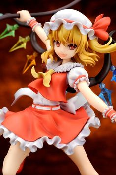 """BackAbout Flandre Scarlet (Re-Run) Touhou Project Figure Flandre Scarlet is a character from the Touhou Project, which is a series of Japanese bullet hell shooter video games developed by the single-person Team Shanghai Alice. Team Shanghai Alice's sole member, ZUN, independently produces the games' graphics, music, and programming.The series was inducted into the Guinness World Records in October 2010 for being the """"most prolific fan-made shooter series."""" The Touhou Project has spawned a…"""
