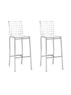 Criss Cross Barstools (Set of 2) by Zuo at Gilt