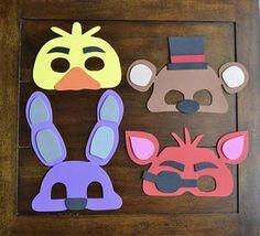 FIVE NIGHTS at FREDDY'S Party Masks Set of 15 Fnaf Foam