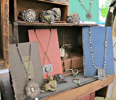 Gypsy Fish: Photo Gallery old books as necklace display