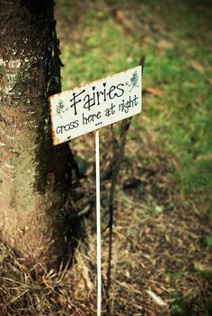 Fairies cross here at night...I need to make this for my garden.