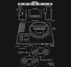 Genesis T-Shirt $12 Sega Genesis tee at Once Upon a Tee!