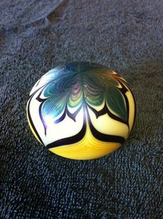 Orient and Flume Glass Paperweight
