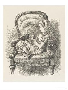 Black Kitten Alice and the Black Kitten Giclee Print