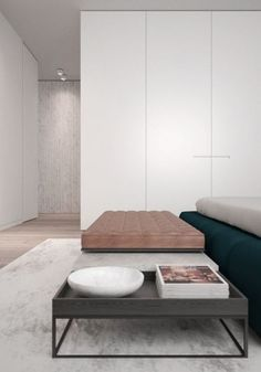 Master Bedroom | Navy, Linen & Soft nubuck leather