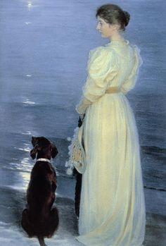 Peder Severin Krøyer (1851-1909), Summer Evening at Skagen