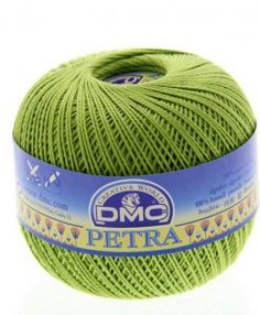 dmc petra 3 5907 lime petra perle cotton available from loveellie.com @LoveEllieBags