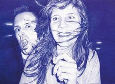 Photorealistic Ballpoint Pen Drawing by Juan Francisco Casas