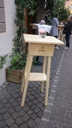 Details Zu Bar Set Stehtisch Und 4 Barhocker Aus FSC® Holz Gartentisch  Partytisch Holztisch   Pallets, Pallet Crafts And Wood Working