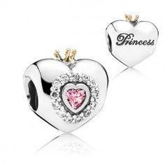 Princess Heart, become the princess in your own fairy tale with the sweet heart charm crowned with a genuine 14k gold coronet - the perfect gift for new-born and grown-up princesses alike. #pandora #rommdiamonds