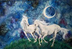 Unicorns by In-The-Distance.deviantart.com on @deviantART