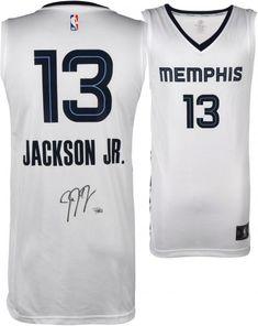 03114c5d963 Jaren Jackson Jr. Memphis Grizzlies Autographed Fanatics White Fastbreak  Jersey