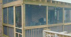 screen porch addition | Décoration | Pinterest | Roof structure, Decks and Porch ideas