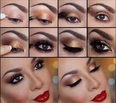 Eye Makeup Tips.Smokey Eye Makeup Tips - For a Catchy and Impressive Look Red Dress Makeup, Love Makeup, Makeup Tips, Hair Makeup, Makeup Tutorials, Makeup Ideas, Makeup Trends, Beauty Tutorials, Makeup Looks For Red Dress
