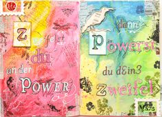 Maria Schmidt Scrap-Art-Design Schmidt, Art Journaling, Layouts, Scrap, My Arts, Design, Art Diary, Performing Arts