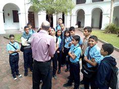 Alumnos de la U.B.E Armando Reverón visitaron el Palacio de las Academias venezolana