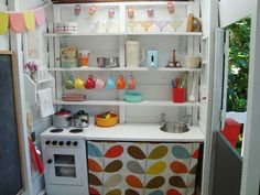 """Playhouse """"kitchen"""" idea."""