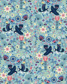Summer Swallows by Paula McGloin, via Behance x