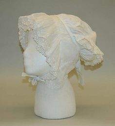 Cap Date: early 19th century Culture: American Medium: cotton