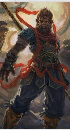 斗战胜佛齐天大圣孙悟空 【转】_纹身吧_百度贴吧 Fantasy Races, Fantasy Warrior, Fantasy Art, Monkey Art, Monkey King, Fantasy Creatures, Mythical Creatures, Character Art, Character Design