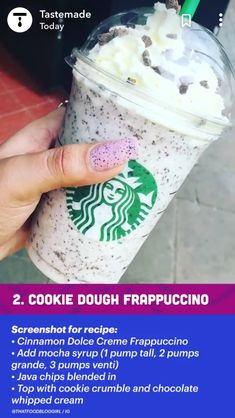 Starbucks Frappuccino, Healthy Starbucks Drinks, Yummy Drinks, Starbucks Coffee, Starbucks Hacks, Starbucks Secret Menu Drinks, How To Order Starbucks, Smoothie Drinks, Cooking Tips