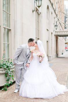 Mayflower Hotel Wedding Photos DC Pink & Gold Winter Wedding Blush Florals Megan Kelsey Photography