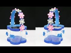 Today I will show you How to make a basket with plastic bottle and foam sheet very easily. This diy basket making is very easy and simple. Waste Bottle Craft, Reuse Plastic Bottles, Plastic Bottle Crafts, Flower Toe Nails, Make Wind Chimes, Paper Crafts, Diy Crafts, Foam Sheets, Craft Work
