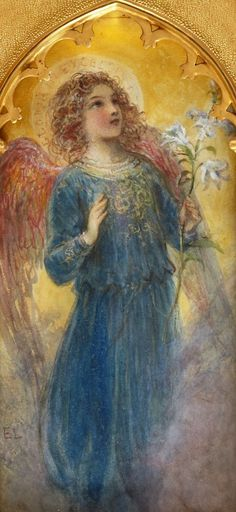 Archangel Gabriel looking like child doll, similar to my dream. Arc Gabriel is messenger of God! He announced to Mother Mary birth of Jesus! So very special to have her in my dream so close to the Christmas. Honored and Happy :)❤️ Entertaining Angels, Angel Artwork, Angel Paintings, I Believe In Angels, Ange Demon, Angels Among Us, Angel Pictures, Wow Art, Guardian Angels
