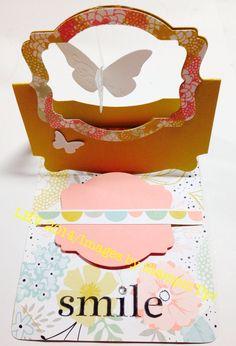 Flying Butterfly Easel Card (inspired by Karen Burniston)