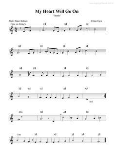 Super Partituras - Partitura da música My Heart Will Go On (Titanic) (Celine Dion). Easy Violin Sheet Music, Piano Music Books, Saxophone Sheet Music, Violin Music, Sheet Music Notes, Trumpet Music, Organ Music, Celine Dion, Scores