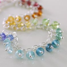 Gorgeous anklet in a rainbow of bright colour!