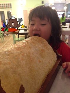 Eat the giant bread