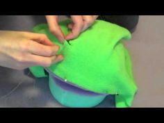 How to Make a Puppet! - This tutorial for making a foam head puppet with fleece covering looks useful for Halloween foam head costume making.