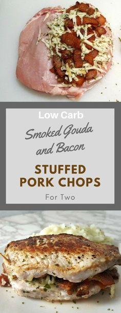Smoked Gouda & Bacon Stuffed Pork Chops #gouda