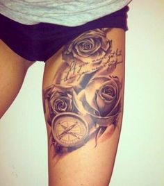 rose tattoo so awesome!