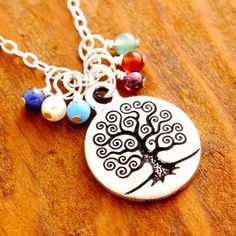 Personalized Tree of Life Necklace - family tree necklace, family necklace, grandma necklace, mother necklace, mom necklace, birthstone