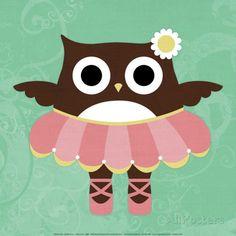 Ballerina Owl Art Print