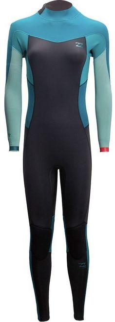 Billabong 3 2mm Synergy Back-Zip Flatlock Full Wetsuit - Women s b537f9753