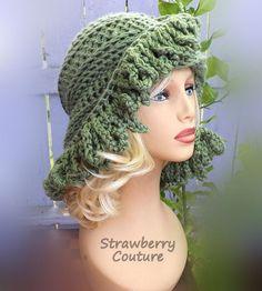 Crochet Hat Womens Hat African Beanie Crochet Hat for Women African Hat Light Sage Green Hat LOOPY Crochet Beanie Hat for Women Winter Hat by strawberrycouture by #strawberrycouture on #Etsy #HatsForWomenBeanie