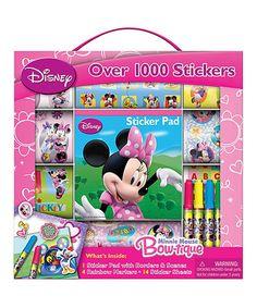 Look at this #zulilyfind! Minnie Mouse 1,000-Sticker Bow-Tique Art Set #zulilyfinds