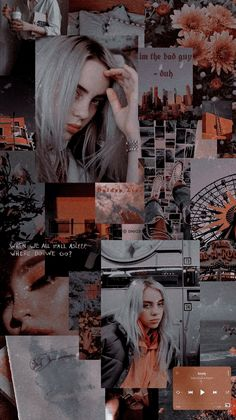 Wallpaper Billie Eilish Aesthetic This is a wallpaper . Billie Eilish, Wallpaper Bonitos, Music Collage, Album Cover, Aesthetic Collage, Belle Photo, Cute Wallpapers, Kpop, Photos