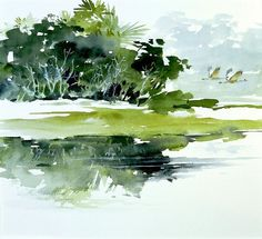 Absolutely love everything this artist paints... Near the Coast ~ Morten E Solberg Sr., watercolor