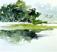 Near the Coast ~ Morten E Solberg Sr., watercolor