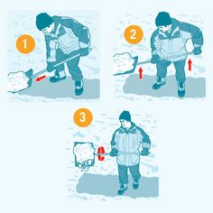 How to shovel snow without having a heart attack! | Illustration: Aaron Ashley | thisoldhouse.com