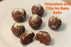 Chocolate And Chia No Bake Balls