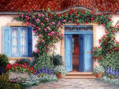 ★Rose Around the Door★ - Houses Wallpaper ID 1763110 - Desktop Nexus Architecture