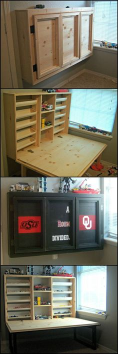How To Build Folding Lego Table  http://theownerbuildernetwork.co/qt0l  Here's a great DIY storage system for Lego. It's a space saver and it can easily fold away once the kids are done playing.