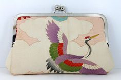 clutch purse vintage kimono