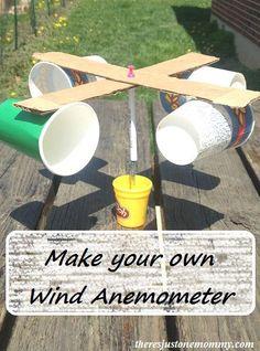 DIY wind anemometer to measure wind speed