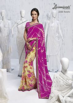 Drape this stylish half-half party wear saree, you can create your new style statement among your circle.